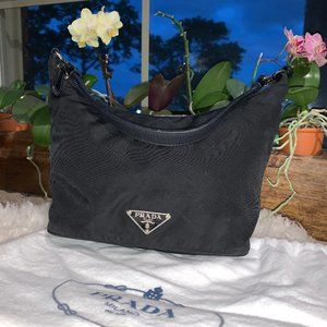 Prada Mini Bag - Black - Nylon - Leather Handle